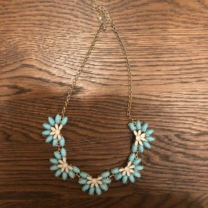 J. Crew blue and white jeweled necklace